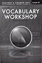 Best sadlier vocabulary workshop level h answers Reviews