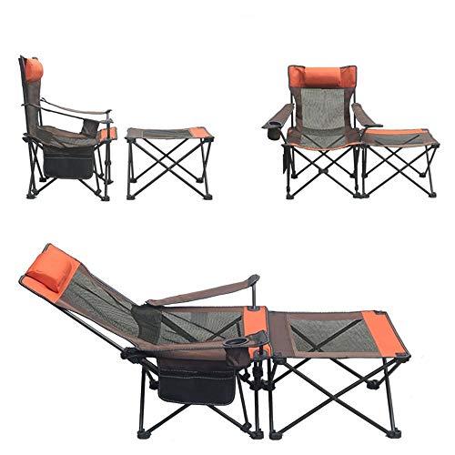 WYYH Campingstuhl Klappbar Leicht, 3 Möglichkeiten Sich Zu Versöhnen Camping Stuhl Mit Getränkehalter Mit Umhängetasche Klappstuhl Outdoor Angeln Festival Strandreisen Wandern A