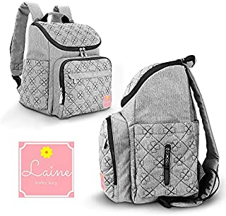 Laine Mochila para pañales de bebé, gran capacidad, impermeable, multifunción, ideal para la maternidad, mochila de viaje