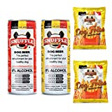 Milk & Pepper Cerveza para Perros y Patatas Fritas. Caja Picnic Pelusin. 2 latas 250 cl 2 Bolsas Patatas 40 gr