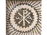 Kit de mosaico Crismón romano. 3800 teselas de 5mm. + herramientas. Tamaño terminado 40x40 cm.