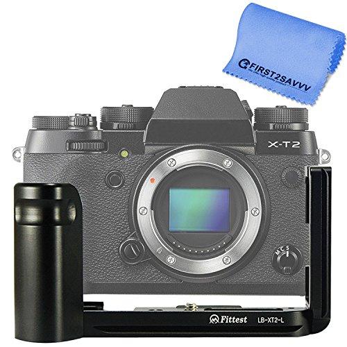 First2savvv Soporte de Forma L con liberación rápida y empuñadura Personalizada para Fujifilm X-T2 XT2 + paño de Limpieza - LLX-SSXT2-01G11