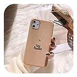 Euiwq 韓国の白い犬IphonexsMax携帯電話ケースソフト11XXRかわいい6S女性78plusに適しています-nai cha se Teddy-SE 2020