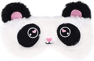 MILISTEN - Graziosa copertura per gli occhi con panda che dorme, in peluche, per bambini, ragazze e adulti