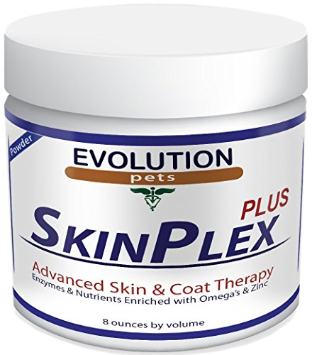 Evolution Pets and Best Digestive Enzymes for Dogs! SkinPlex Plus is Guaranteed to Help end Dog Skin Allergies, Dog Skin Problems, Itchy Dogs Dog Dry Skin Remedy! Safe All Natural Made in USA!