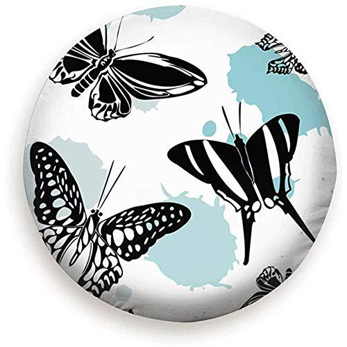 CHANGSHABF Heerlijk Vlinder Kite Sjabloon Licht Reserveband Cover, Waterdichte stofdichte dichte Wiel Protectors Covers 17 Inches 1085