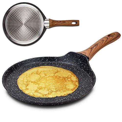 NAVA Pfanne Bratpfanne NATURE mit Granitbeschichtung für Pfannkuchen Omeletts 24 cm für Gasherde Induktion