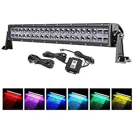 nbvmngjhjlkjlUK Barra 4-en-luz Barra de luz Colorida RGB 4-en-1 9Led Luz Ambiental Luz Interior del Coche Luz Decorativa Luz de Pozo con Control Remoto