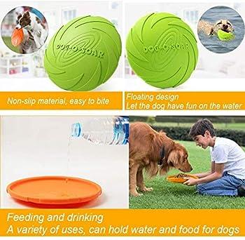 HIQE-FL Frisbee Chien Eau,Jouet Flottant Chien,Disque Volant Chien,Disque Frisbee,Dog Frisbee,Frisbees pour Chiens