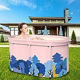 waterfaill Bañera portátil, bañera de remojo Plegable para Ducha, bañera de hidromasaje de baño Independiente para niños Adultos, Familia, Ideal para baño Caliente Baño de Hielo