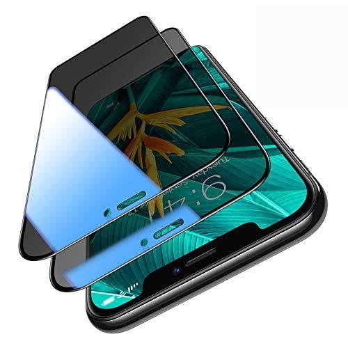 TORRAS für iPhone 11 Pro Panzerglas Blickschutz [Null Blasen Positionierungshilfe] Vollbild Bruchsicher Panzerglas iPhone 11 Pro/XS/X [9H Militärstandard] Folie iPhone 11 Pro/XS/X-5.8 Zoll (2 Stücke)