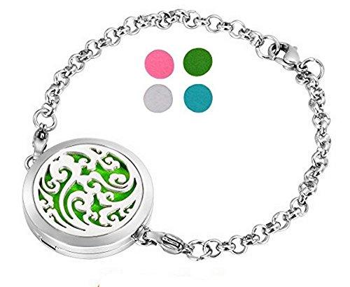Bracelet Diffuseur de Parfum ou d'Huiles essentielles aux 4 couleurs. Fermoir magnétique.