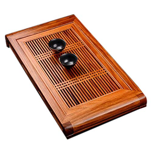 Tee-Tablett Chinesisches Kung-Fu-Tee-Tablett Japanisches Rechteckiges Tee-Tablett Zen-Desktop-Teetisch Einfacher Haushaltsteesatz Haltbar (Size : 57x34.5x6.5cm)