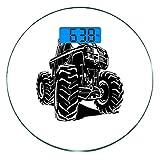 Escala digital de peso corporal de precisión Ronda Camión Báscula de baño de...
