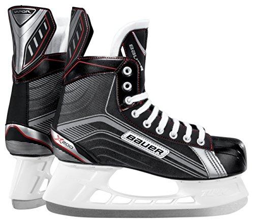 Bauer Kinder Schlittschuh Vapor X200 Youth Eishockeyschlittschuh, schwarz/Silber, 07.0/25.0