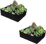SDKFJ Bolsas de Cultivo Grids - Cama de plantación elevada, Cama de jardín elevada, 4 Bolsas de Cultivo de Vegetales de Fieltro Dividido, contenedores de Plantas para Plantas de Flores, Paquete de 2