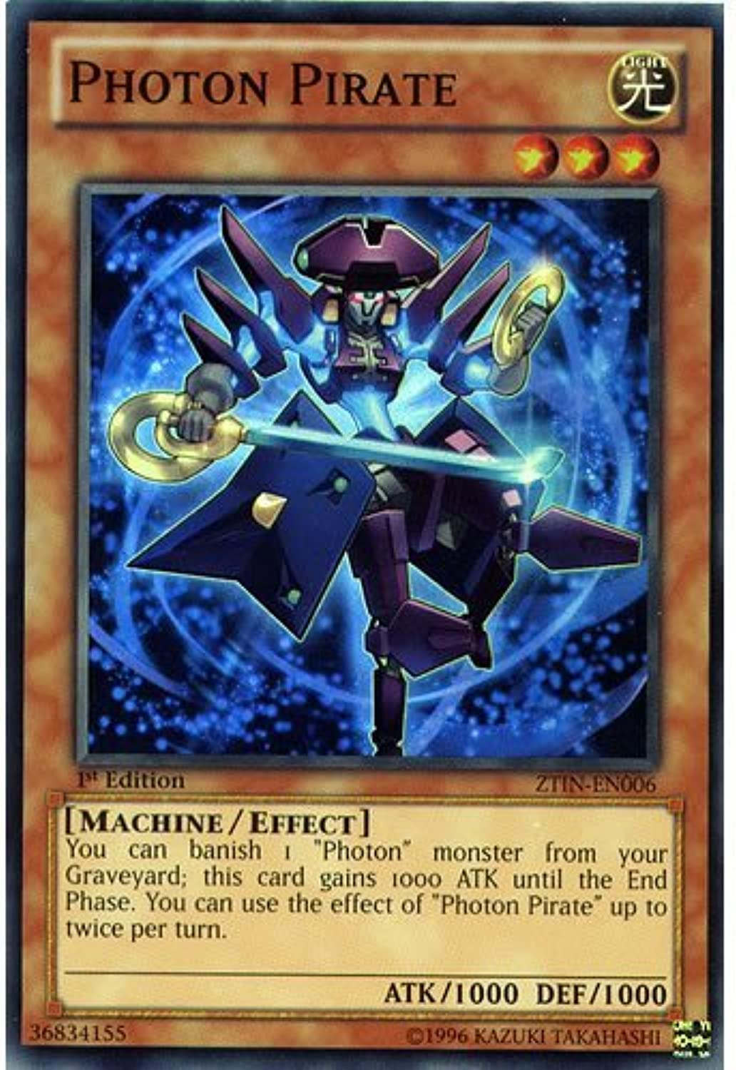YuGiOh   ZTIN-EN006 Limited Ed Pcalienteon Pirate Super Rare autod - ( Yu-Gi-Oh  Single autod ) by Deckboosters