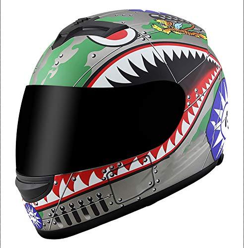 Helmet Fahrradhelm für Mountainbike, mit herunterklappbarem Sonnenvisier, Größe geeignet für 55-60 cm Crash Motorrad-Visier, leicht zu öffnen