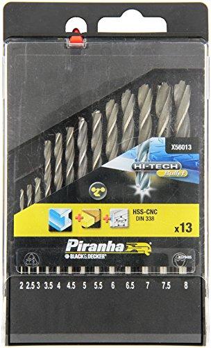 Piranha Metall / Spiralbohrer HSS-CNC Hi Tech Bullet Bohrersatz (13 Stück) X56013-QZ