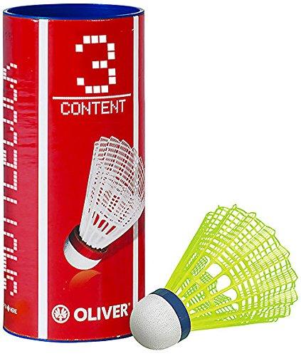 Oliver Badminton Ball PRO TEC 5 gelb-blau, Farbe:GELB-BLAU, Größe:MED
