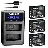 Kastar Dual LCD USB Charger and 3 Pack Battery for Fujifilm NP-W126 NP-W126s BC-W126 and Fuji HS30EXR HS33EXR HS35EXR HS50EXR X100F X-E1 X-E2 X-E2S X-E3 X-M1 X-T1 X-T2 X-T3 X-T10 X-T20 X-H1 Cameras