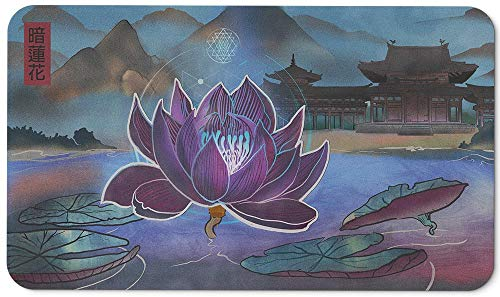 Paramint Dark Lotus | MTG Playmat | Perfect for Magic The Gathering, Pokemon, YuGiOh, Anime | TCG Card Game Table Mat | Durable, Thick, Cloth Fabric Top with Rubber Bottom by Daniel Ziegler