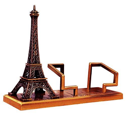 Torre Eiffel Portatarjetas de Presentacion de Visita Tarjeteros de Escritorio