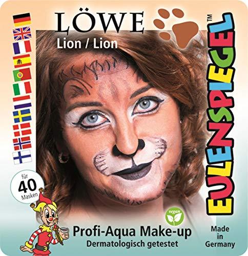 Eulenspiegel 204092 Schminkset Löwe, Pinsel und Anleitung, 4 Farben