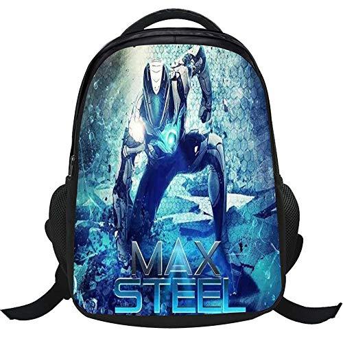 QAQQQ Animado-MAX Steel Mochila Escolar Niños Mochila Primaria Primaria Bookbag H