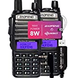 Pack 2Pc Mirkit Radio BAOFENG UV-82 Handheld MK5 8 Watt Max Power with Programming Cable PL2303