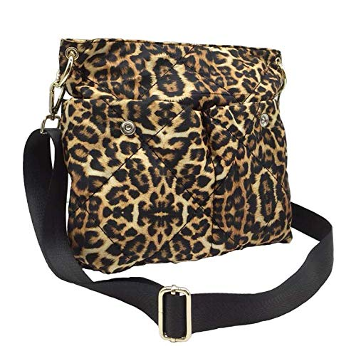 Sondra Roberts Tote Crossbody Handbag with Adjustable Strap-Leopard