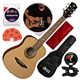 Luna Safari Muse Travel Guitar Spruce with Gigbag, Tuner, and Bundle