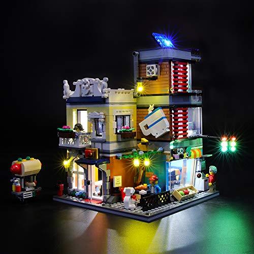 BRIKSMAX Kit de Iluminación Led para Lego Creator Tienda de Mascotas y Cafetería,Compatible con Ladrillos de Construcción Lego Modelo 31097, Juego de Legos no Incluido