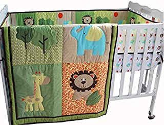 Safari natural Baby Boy 7 Pieces Nursery Crib Bedding Set With Bumper