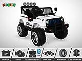 Voiture électrique enfant KINGTOYS - 4X4 Jeep 180W - Blanc