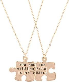 2 piece puzzle necklace