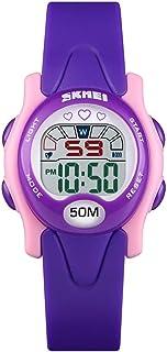 Perfect Home 1478 Multifunction Modern Simplicity Children Digital Watch Waterproof Sports Watch Fashion (Color : Purple)