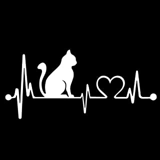 StickerDad CAT Heartbeat V1 Lifeline Vinyl Decal (Size: 8