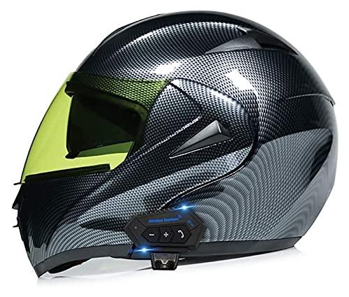 Casco Modular de Motos,Casco de Moto con Bluetooth Integrado ECE Homologado para Patinete Electrico Motocicleta Bicicleta Scooter con Gafas de Doble Protección Mujer y Hombre ( Color : G , Size : S )