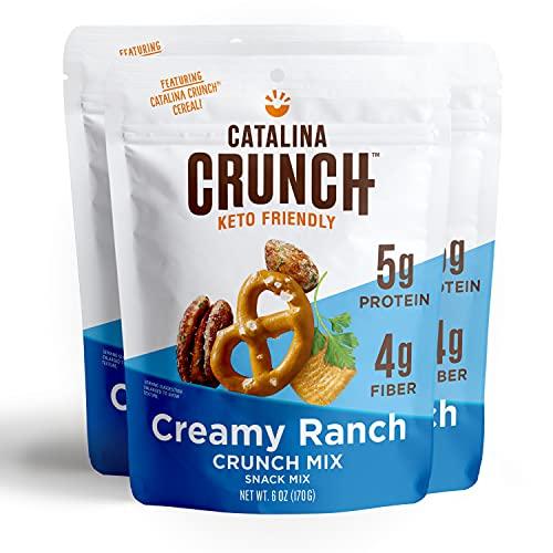 Catalina Crunch Mix Creamy Ranch Keto Snack Mix   Keto Friendly, Protein Snacks, 6oz (Pack of 3)