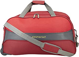Aristocrat Polyester 35 cms Red Travel Duffle (DFTDRF65RED)