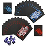 ZJW 2 Decks Standard Playing Cards with Dices, Exquisite Luxury Poker Cards Bring You Casino Feel