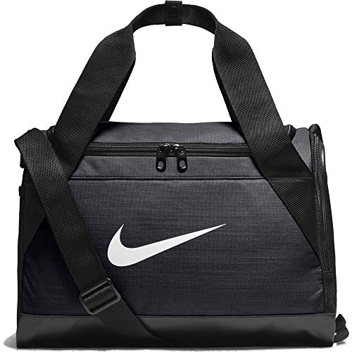 Nike Men Brasilia Duffel Bag - Black/Black/White, 40.6 x 22.9 x 25.4 cm/Size 25/Large