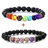 IDJ 2 Pack Essential Oils Aromatherapy Diffuser Bracelet Case Perfect for Gift Or as Aromatherapy Diffuser (B)
