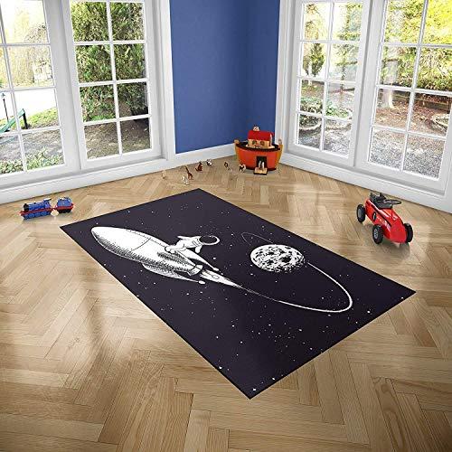 Oedim Alfombra Infantil Espacio para Habitaciones PVC | 95 x 95 cm | Moqueta PVC | Suelo vinílico | Decoración del Hogar | Suelo Sintasol | Suelo de Protección Infantil |