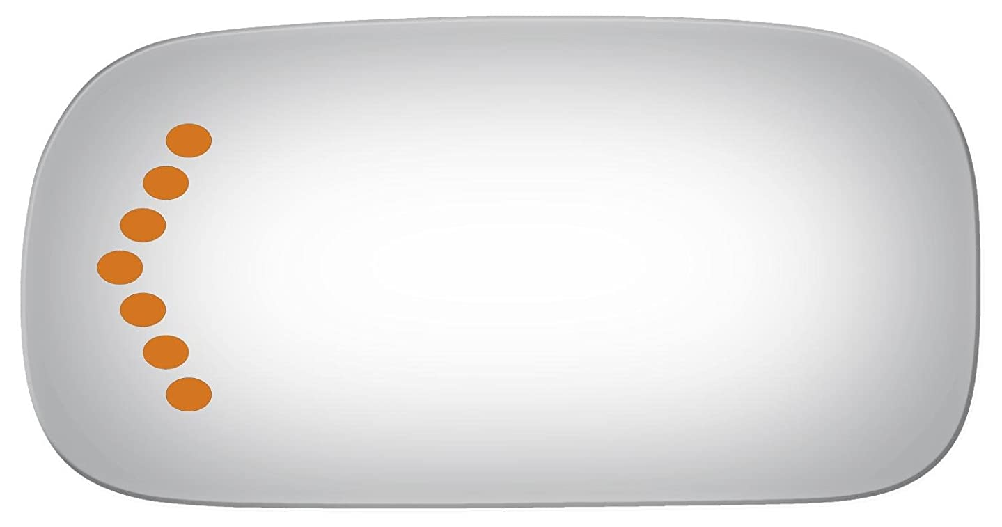 Driver Side Power Replacement Mirror Glass with Lasered Holes to use with Factory Turn Signal Indicator (2003 2004 2005) for CADILLAC DEVILLE