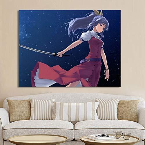 wZUN Decoración del hogar Lienzo Pintura Pared Arte impresión animación película y televisión Estilo nórdico póster imágenes de la Sala de Estar 60x80 Sin Marco