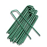 Yeasing Garden Pegs Pins Ground Stakes Staples Spikes U Shaped Landscape Securing Nail Pin Lawn Fabric Netting Matting 6Inch 20PCS