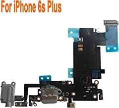 Johncase OEM Charging Port Dock Connector Flex Cable w/Microphone + Headphone Audio Jack Port Ribbon Replacement Part Compatible for iPhone 6s Plus All Carriers (Black/Space Gray)