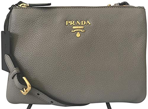 Prada Dove Gray Vitello Phenix: Bolso bandolera